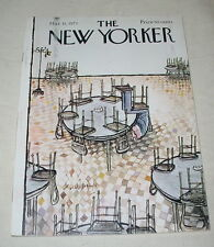 THE NEW YORKER MAGAZINE MARCH 31 1973 RONALD SEARLE PIERRE BOULEZ ANDREW OERKE