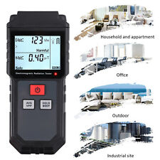 EMF Electromagnetic Field Radiation Detector Meter LCD w/ Anti Radiation Shield