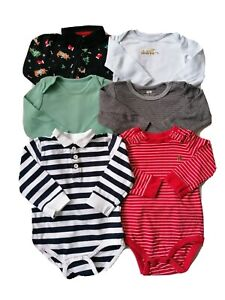 Baby boy selection of long sleeve Bodysuit 6-9m