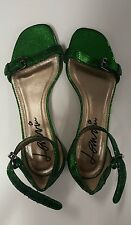 Authentic Lanvin womens green sandals size 36 (more like US 6.5 or 36.5)