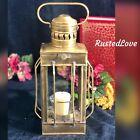 Brass Lantern Candle holder Vintage Hanging Light Nautical Beach Ships lantern