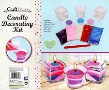 Candle Making Decorating Kit Art Craft DIY Sand Tealight Glass Votive Set