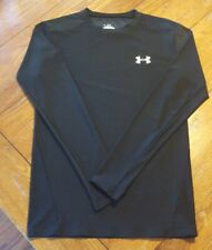 Men's Under Armour Black Fitted to Compression Long Sleeved XL Heatgear Shirt