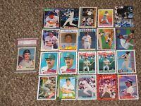 Wade Boggs 1983 Fleer RC PSA 8 Rookie + 20 Card Bundle 1980s-1990s Topps Donruss