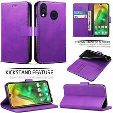 For Samsung Galaxy A20E Leather Wallet Flip Book Case Cover Pouch with Pocket