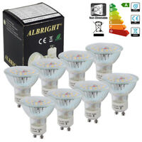 Pack of 8x GU10 7W LED SMD Bulbs Lamps Energy Saving Light A++ Rating Downlight