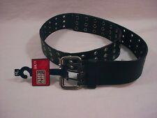 Unisex  Leather Buckle Belt Black, Wide width  M/L size  Free Shipping