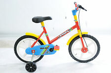 """TRAIL 14"""" WHEEL CHILDREN'S CYCLE ITALIAN MADE FANTASTIC PRESENT RED 1G1298"""