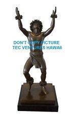 "RARE Bronze/Marble Kim Taylor Reece ""Kamalani"" Hula Sculpture NIB First Casting"