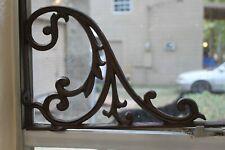 Vintage Style Victorian Window Decor Treatment Cast Iron Bracket 15 7/8 ~ B-85