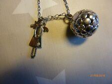 Kugelanhänger*Engel-Anhänger*Schutzengel Irma*Silberkette*ca. 80 cm*925-Silber*