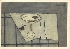 Still life with fruit bowl signed Bernard Buffet postcard