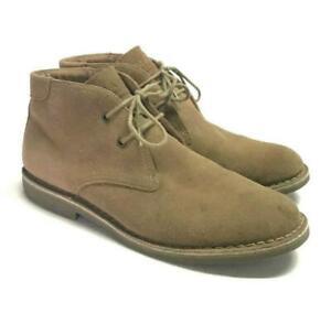 Marc New York Hudson Mens 13 Chukka Desert Boots Beige Suede Lace Up