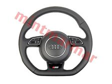 AUDI S3 STEERING WHEEL WITH AIRBAG MULTIFUNCTION BUTTONS FLAT BOTTOM 1070