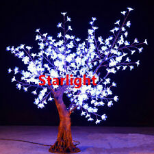 White Outdoor 5ft LED Cherry Artificial Tree Home/Garden/Holiday Night Light