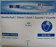 PE Einweg Handschuhe Einmalhandschuhe Folienhandschuhe Plastik Herren 100 Stück