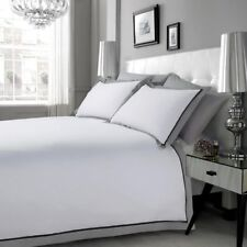 Egyptian Cotton 200TC MF WHITE BLACK GREY Duvet Cover Set Double King Superking