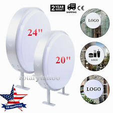 LED Light Box Round Double Sided Outdoor Advertising Illuminated Projecting Sign