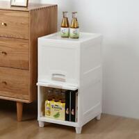 Bathroom 2 Drawer Cabinet Storage Organizer Cupboard Unit Shelf Modern White