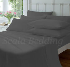 Full Size Sheet Set Egyptian Cotton 800 Thread Count Bedding Gray Solid
