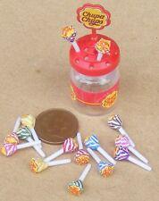 Échelle 1:12 Chupa Chups Support & 14 Lolli tumdee Dolls House Sweet Accessoire