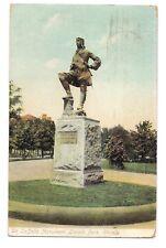 Robert Cavelier De LaSALLE Monument Lincoln Park CHICAGO  Illinois Postcard 1907