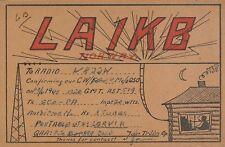 OLD VINTAGE LA1KB NORWAY AMATEUR RADIO QSL CARD