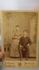 Cabinet Card Photo Photograph Husband Wife couple MUELLER Owatonna MN Minnesota