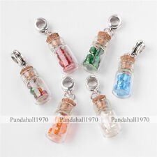 Large Hole Glass Bottle With Glass Seed Beads European Dangle Beads Mixed Color