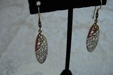 Sterling Silver Lacy Lace Drop Dangle Bali Balinese Indonesia Earrings NEW