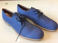 Jil Sander Men's Blue fabric leather Oxfords Shoes Size 12 $ 128.