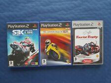 Sony PlayStation 2 PS2 Lot de 3 jeux courses de motos, complets