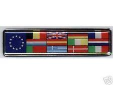 EUROPEAN UNION FLAG EU BADGE VW AUDI MERCEDES BMW EURO BE ES  DE IT NL EU STARS