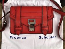 Proenza SCHOULER MINI CROSSBODY BAG BORSA ps1+ Mini Rosso in Pelle NP 800 € sold out