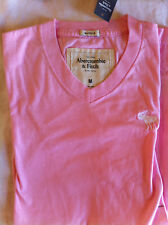 Abercrombie & Fitch Soft Vee Muscle Tee Light Pink M