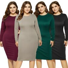Women's Plus Size Sexy Party Dress Long Sleeve Bodycon Dress Ball Gown Dresses