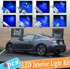4-pc Blue 10K LED Car Interior Light Bulbs Package Kit Fit 2013-2016 Scion FRS