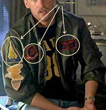 HALLOWEEN FANCY DRESS PROP TOP GUN FLIGHT SUIT burdock INSIGNIA: Nick Goose Set