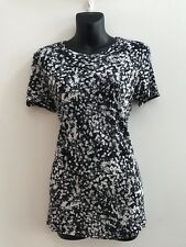 WOMENS SABA BLACK & NUDE TOP SIZE S - AS NEW