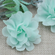 10PC,Organza Ribbon Flower Appliques Crafts Headdress Sewing Decoration DIY FP13