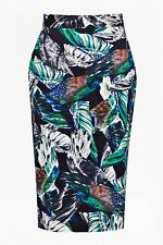 BNWT French Connection Calliope Printed Pencil Evening Occasion Skirt Size 6 NEW
