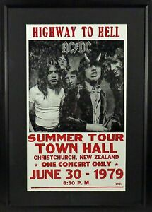 AC/DC Highway to Hell Framed Concert Poster (Engraved Series)