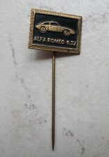 ALFA ROMEO Badge Vintage Pins Auto Automobile Italie ancien 1960s noir