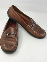 Peter Millar Men's Driving Shoe Brown Leather 11.5 M Moccasin Buckle Slip On