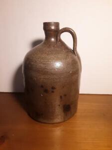 Antique North Carolina Primitive Pottery Jug Fresh Barn Find