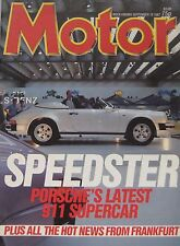 Motor magazine 19/9/1987 featuring Panther Solo, Mercedes, Mazda RX-7, Nissan