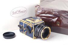 Mint- Hasselblad 503cx + CF 80mm f/2.8 + A12 Gold Blue 50 Years Anniversary