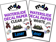Water Slide Decal Paper A4 LASER Waterslide Transfer Paper – TEN PACK SIZES