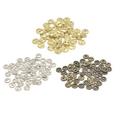 Metal Doll 2 Holes Button Tiny Round DIY Craft Sewing Replacement Accessories