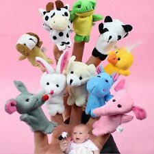 10pcs Set Zoo Farm Animals Finger Puppets Plush Toy Story Telling Prop Fun Gift